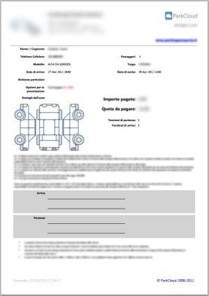 Formulario de inspección de entrada y salida del Vehículo