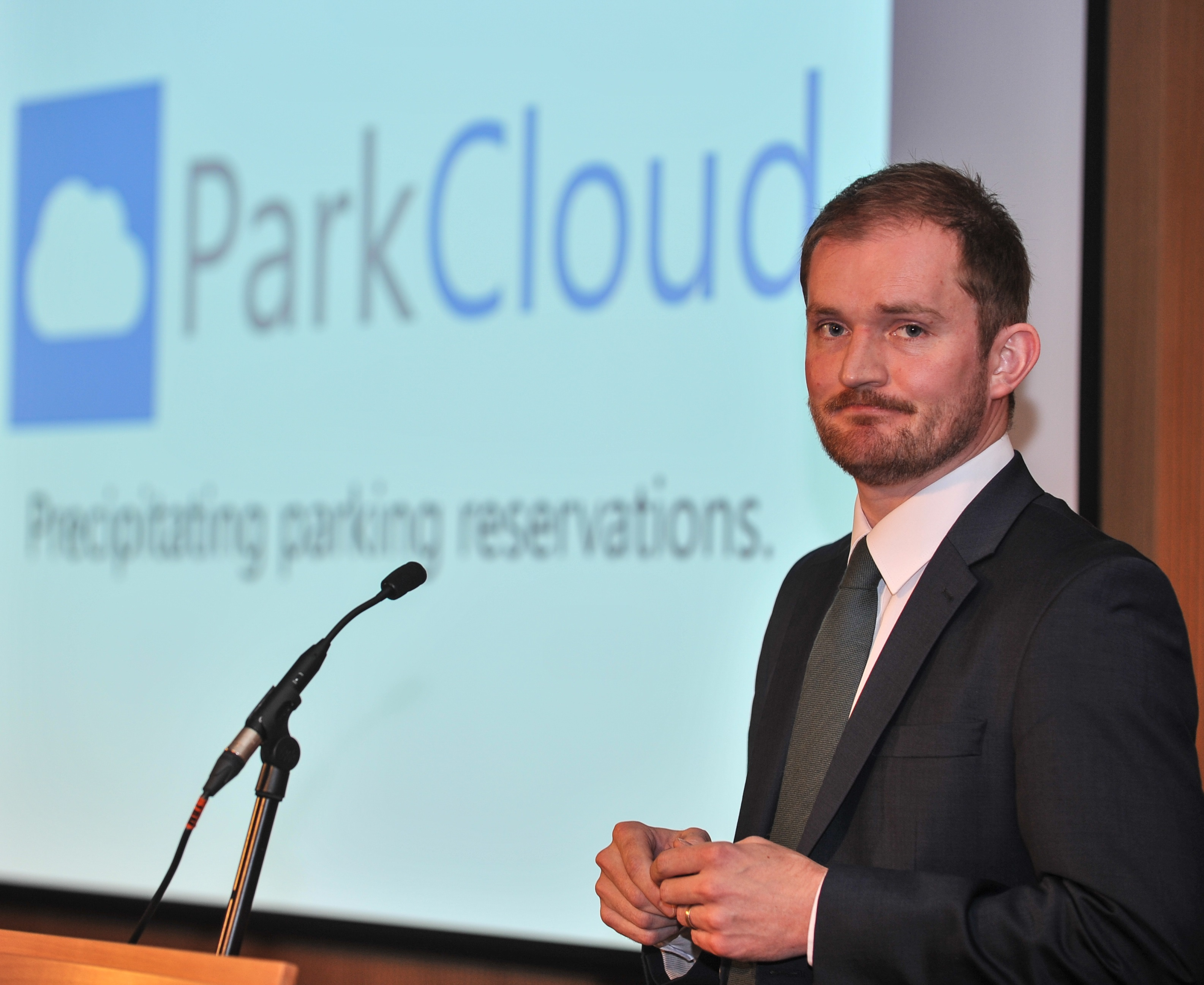 ParkCloud's Managing Director Mark Pegler, presenting at the recent EPA Congress, in Dublin.
