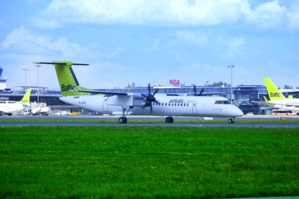 airBaltic planes at Riga airport