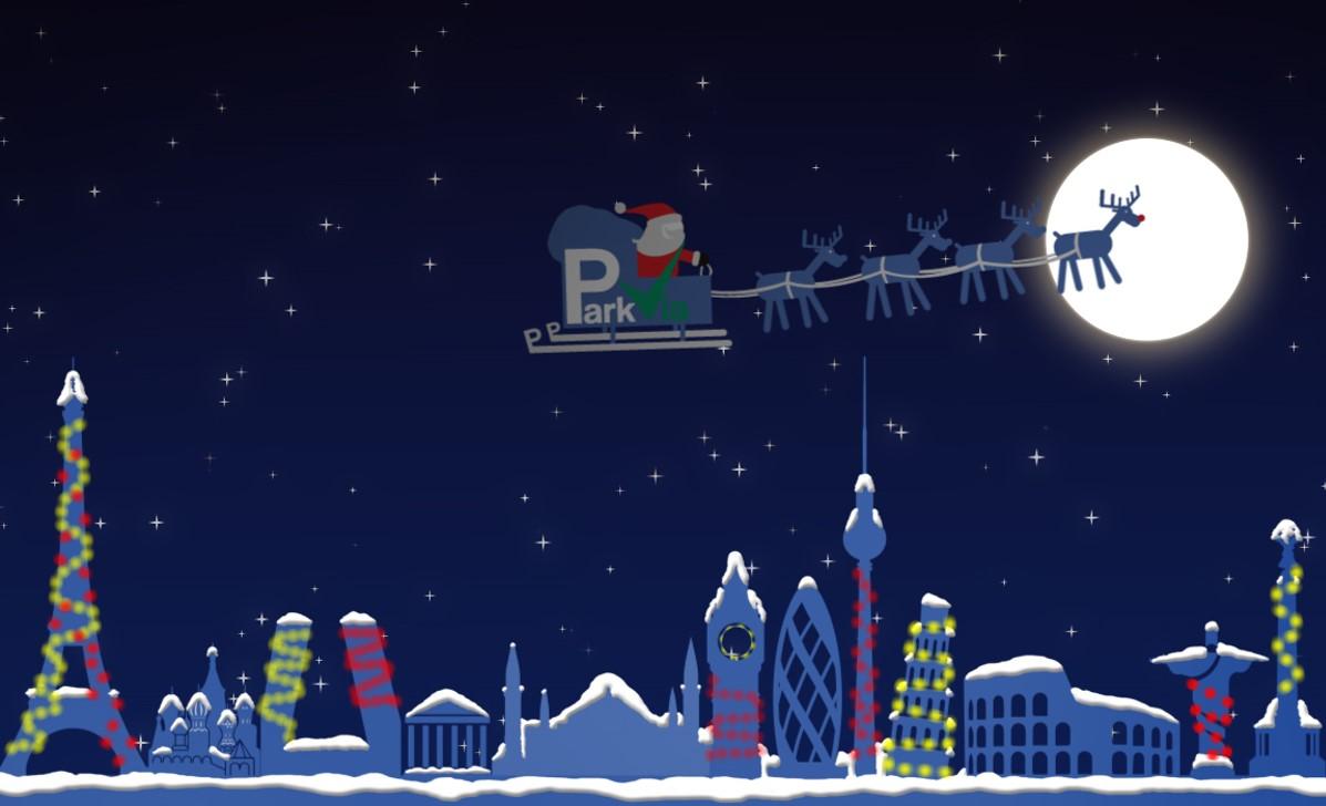 ParkVia. Vyberte si parkování tyto Vánoce.