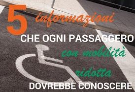 5 informazioni che ogni passeggero con mobilità ridotta dovrebbe conoscere