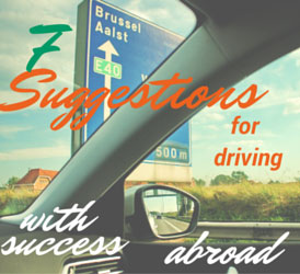 7 Suggestions For Driving With Success Abroad