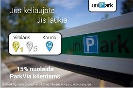 Išsaugoti šią vasarą Vilniaus ir Kauno oro uosto automobilių stovėjimo aikštelė