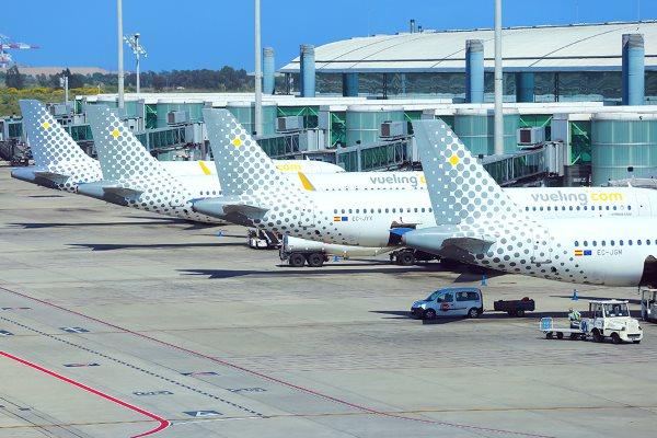 Vueling aircraft at Barcelona Airport