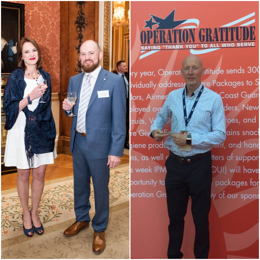 Mark Pegler and Dr Valentina Moise attending the Queen's Award for Enterprise reception at Buckingham Palace & Sales Director Gary Pyatt picking up the IPMI Marketing Award in Anaheim, Ca.