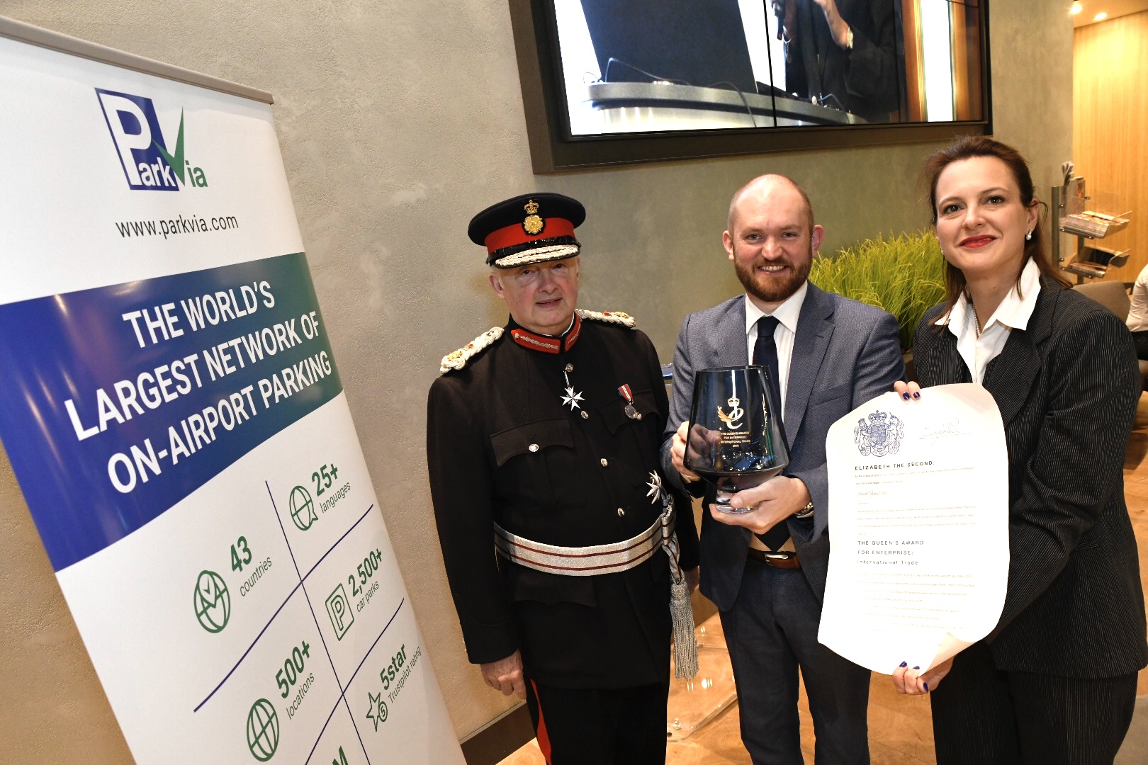 ParkVia Receives Royal Recognition At Lord-Lieutenant Ceremony