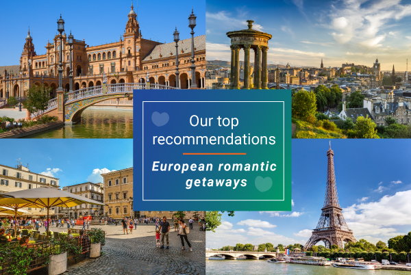 ParkVia recommendations: top 5 European romantic getaways